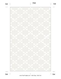 Silver Filigree Bookmark