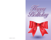 Ribbon Birthday Card