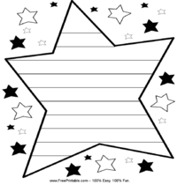 Star Handwriting Paper
