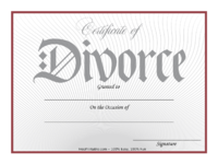 Red Divorce Certificate