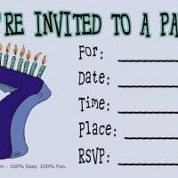 7th Birthday Party Invitation