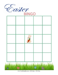 Blank Easter Bingo Card