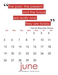 June 2017 Quote Calendar