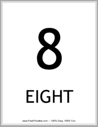 Flash Card Number 8