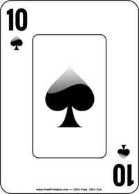 Ten of Spades Playing Card