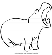 Hippo Handwriting Paper