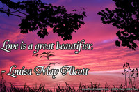 Love Beautifier Alcott Quotation