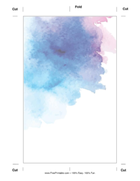 Water Color Bookmark