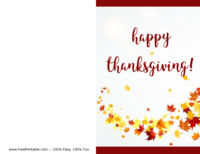 Autumn Leaves Thanksgiving Card