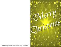 Gold Snow Christmas Card