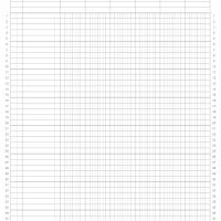 8.5&quot;x11&quot; 6colx40row Accounting Ledger Paper