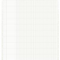 8.5&quot;x11&quot; 6colx54rows Accounting Ledger Paper