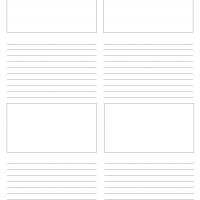 "8.5""x11"" Storyboard Paper"