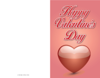 Pink Heart Valentine Card