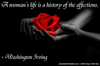 Women Affection Irving Quotation