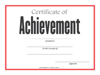 Simple Achievement Certificate