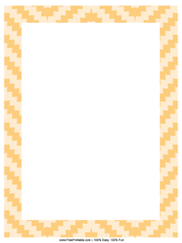 Orange Blocks Letterhead