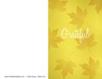 Grateful Thanksgiving Card Yellow