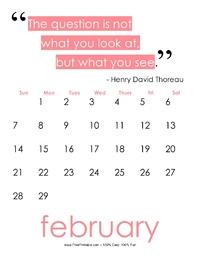 February 2017 Quote Calendar