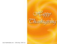 Happy Thanksgiving Card Yellow