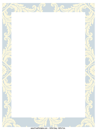 Blue Royal Letterhead