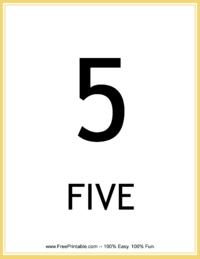 Flash Card Number 5