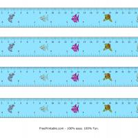 9 Centimeter-Inch Sea Animals Design Ruler