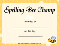 Spelling Bee Champion