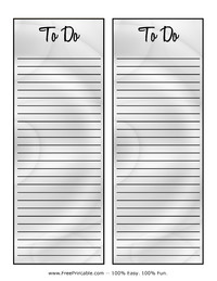 To Do List Metallic