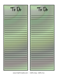 To Do List Green