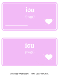 IOU Hugs