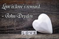 Love Reward Dryden Quotation