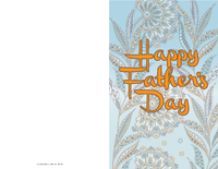 Floral Father's Day Card