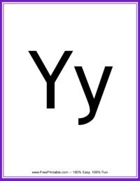 Flash Card Letter Y