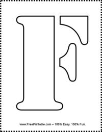 Letter F Stencil