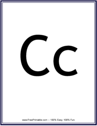 Flash Card Letter C