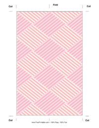 Pink Squares Bookmark