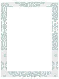 Blue Blossom Letterhead