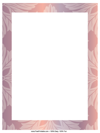 Shiny Flower Letterhead