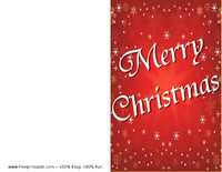 Red Snow Christmas Card