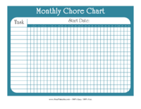 FREE Weekly Chore Chart (Colorful) | ACN Latitudes  |Monthly Chore Calendar