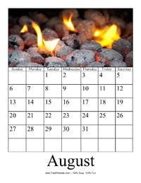 August 2017 Photo Calendar