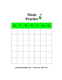 Music Chore Chart