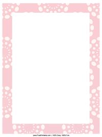 Pink Dandelion Letterhead
