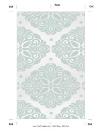 Blue Blossom Bookmark