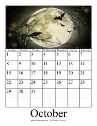 October 2017 Photo Calendar