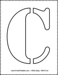 Letter C Stencil