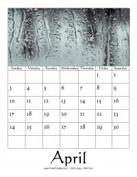 April 2016 Photo Calendar