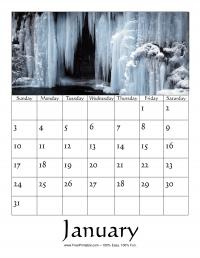 January 2016 Photo Calendar