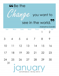 January 2016 Quote Calendar
